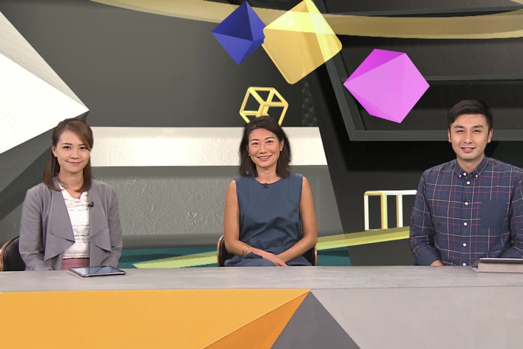 Daisy Tam discussing Sustainability on RTHK tv
