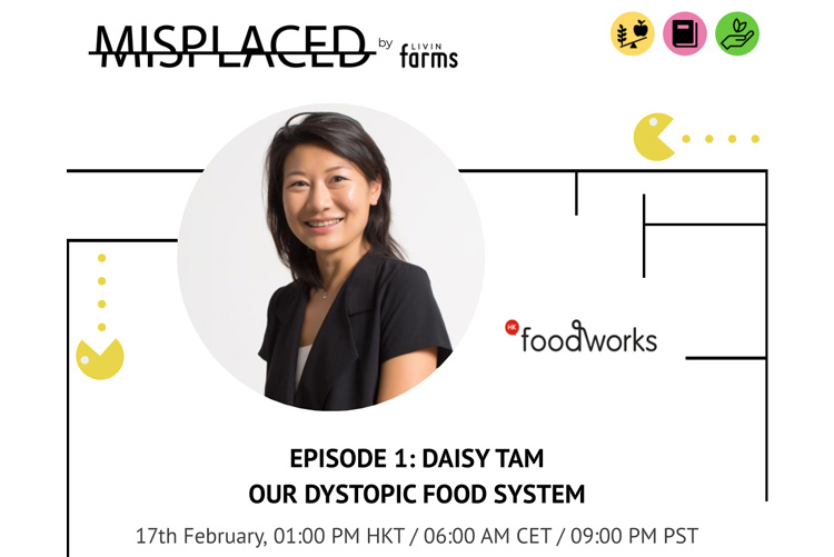 Poster showing Daisy Tam speaker at 'Misplaced' by Livin Farm